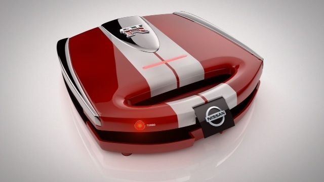 Nissan  Meet the Nissan Sandwich Toast-R. It blasts sandwiches from 0-to-grilled in 2.9 seconds, making it the world's highest-performance toastie maker! Lunchtime just got a whole lot faster.