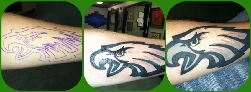 Before, during, after. All #FlyEaglesFly.