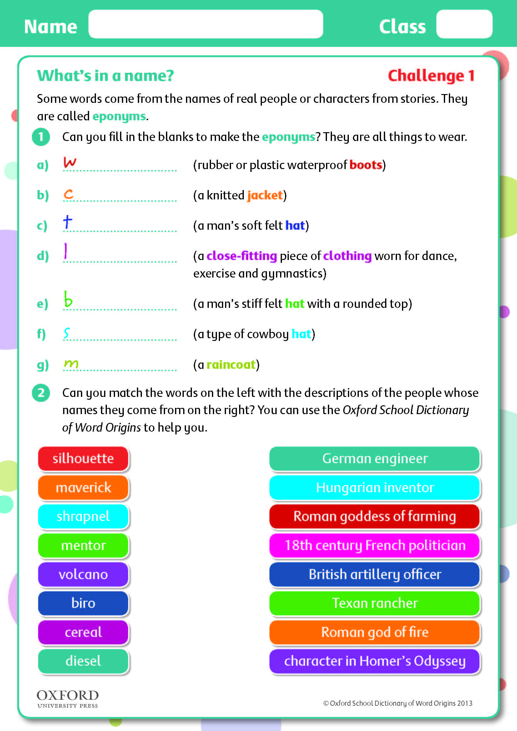 Teaching Children About Eponyms Try This Free Challenge