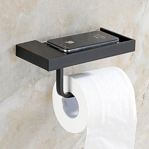 Flg Wall Mount Solid Brass Toilet Roll Paper Holder Single Bathroom Accessory Paper Holder Oil Rubb Black Toilet Paper Holder Black Toilet Bathroom Accessories