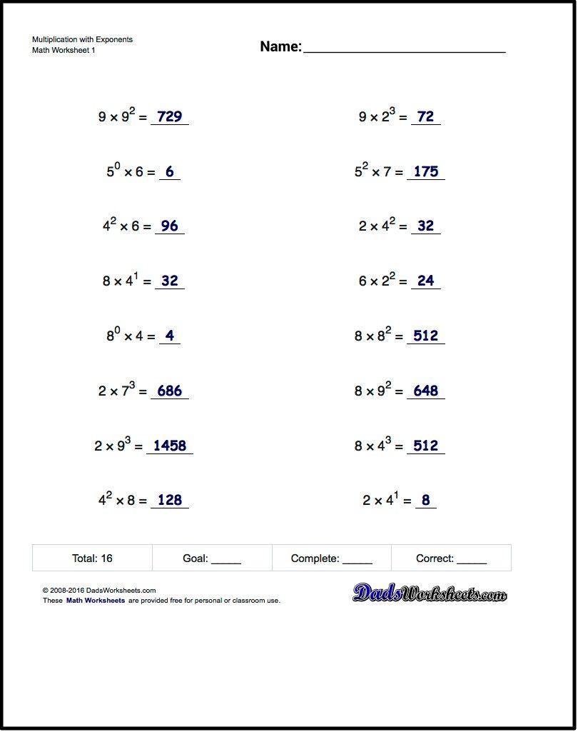 worksheet. Properties Of Exponents Worksheets. Worksheet ...