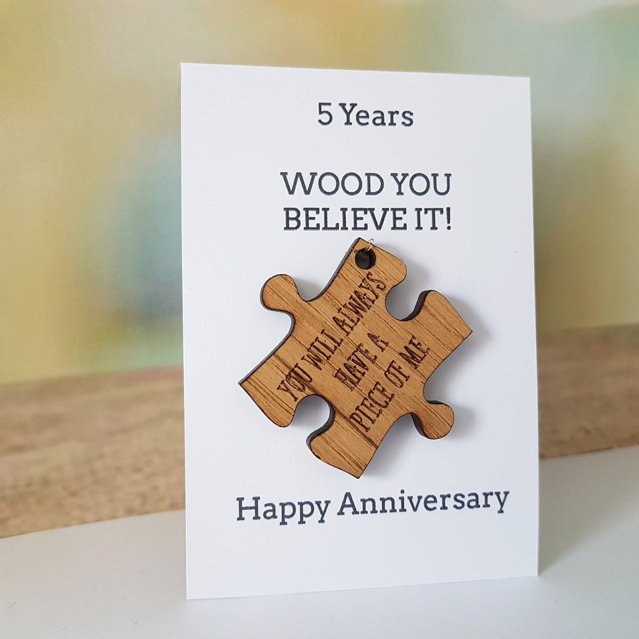 5th Anniversary Gift Husbandgift Wife Card Wood Wooden Etsy In 2020 Wooden Anniversary Gift Wood Anniversary Gift Wedding Anniversary Cards