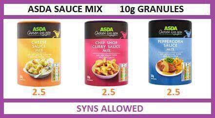 Asda Sauce Mix Slimming World Recipes Slimming World Syns