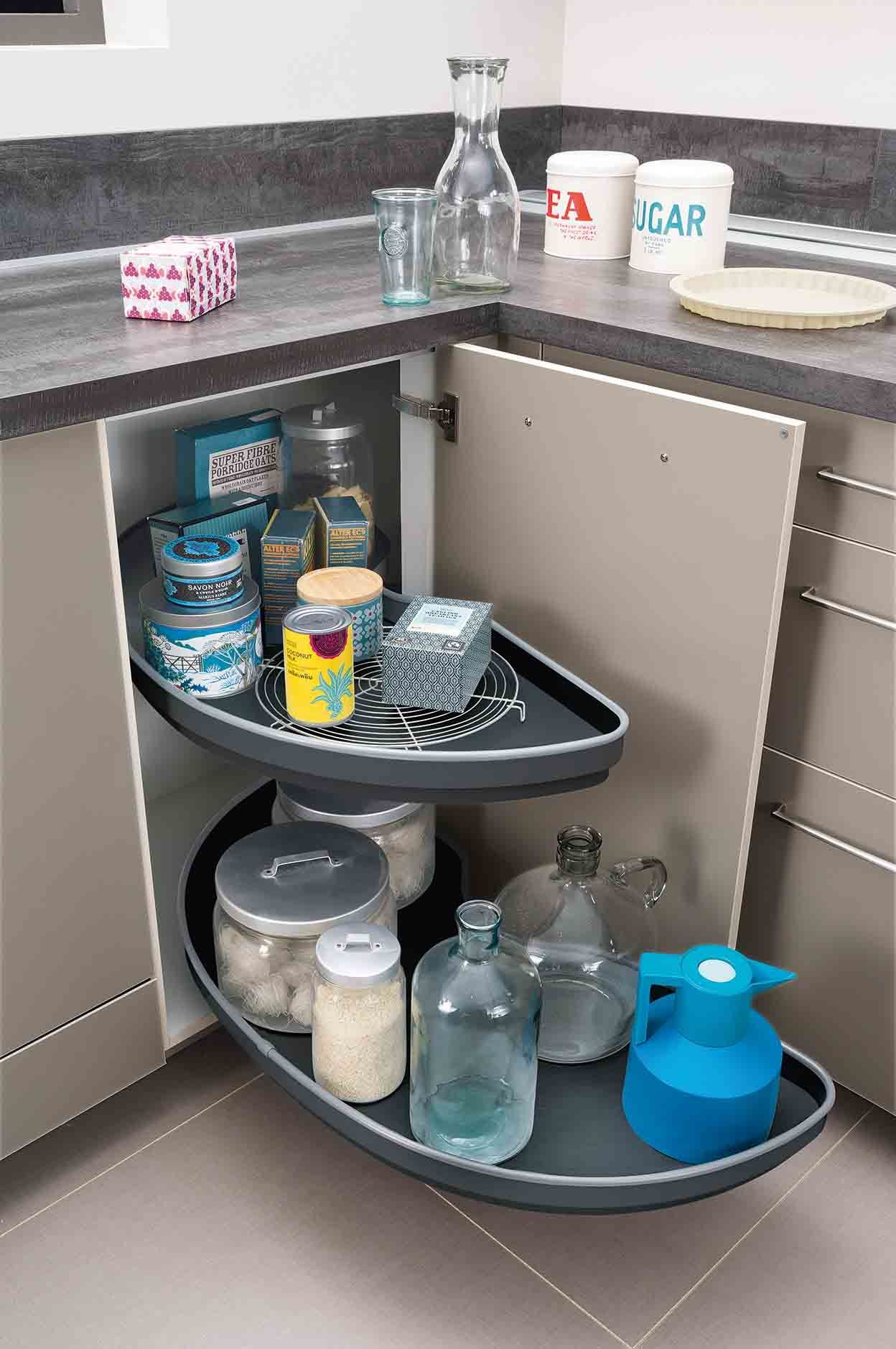 Meubles De Rangement Ingenieux Amenagement Interieur Meuble Cuisine Meuble Angle Cuisine Organiser Placard Cuisine