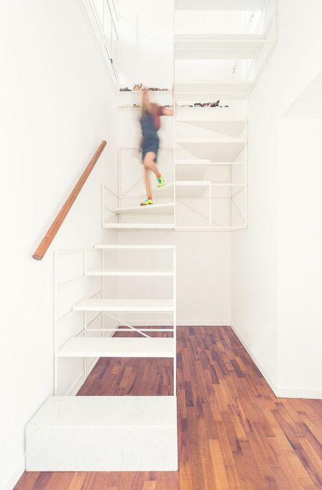 "Striking staircase at ""Casa P"" in Milan, by Francesco Librizzi studio"