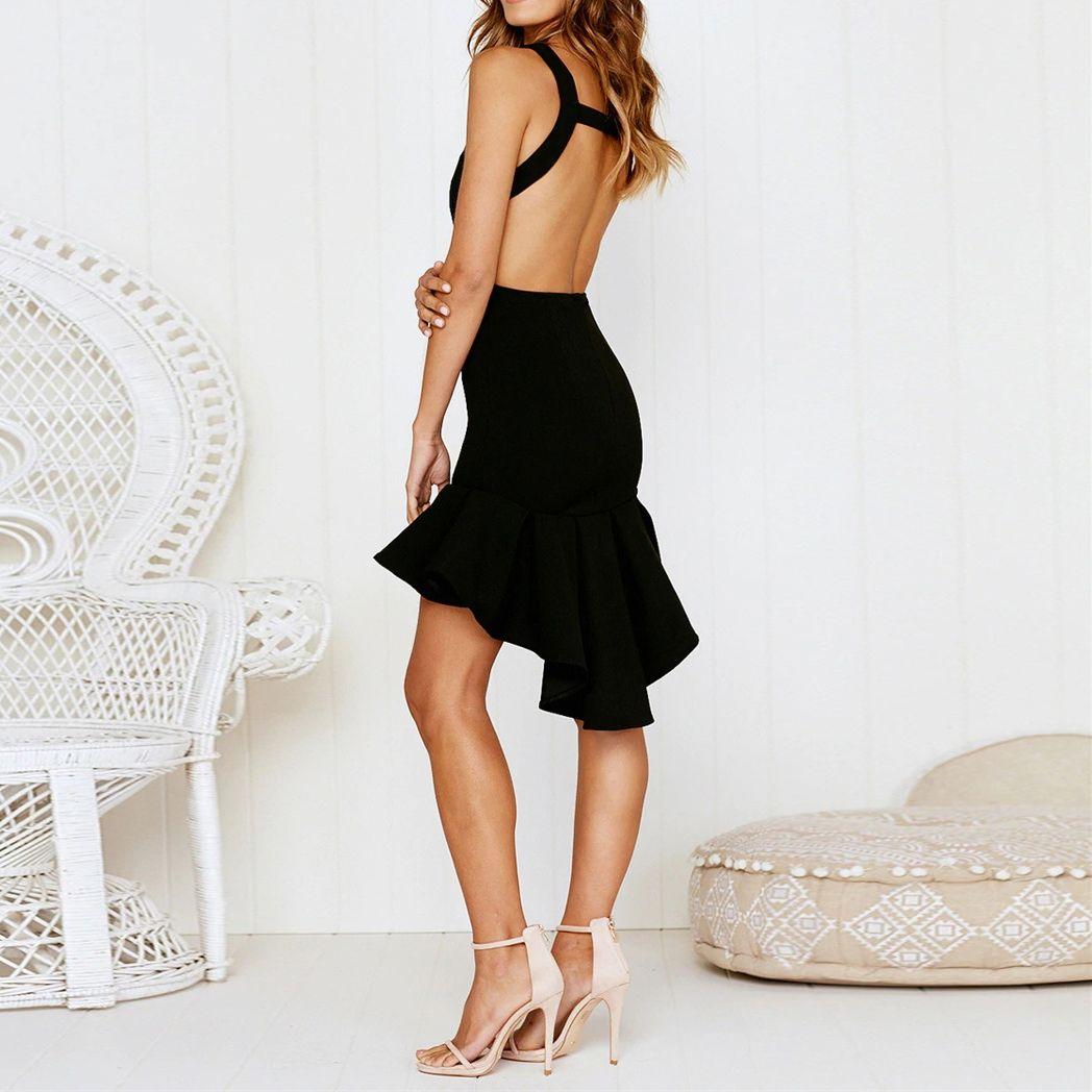 Color 2019Vestidos Solid En Dress Elegant Party mN8wvn0