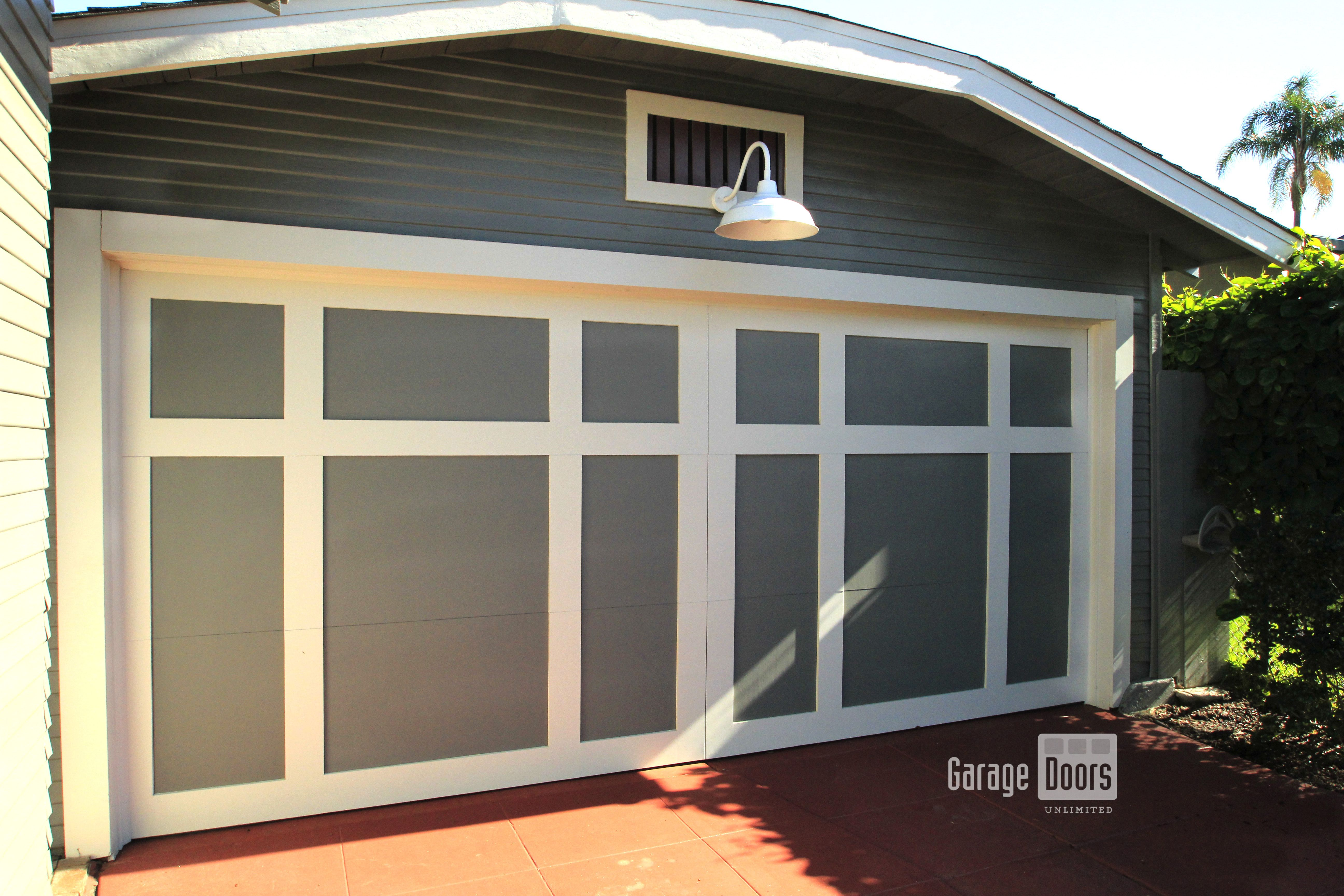 Barn Style Garage Doors With White Trimming San Diego Ca Garage