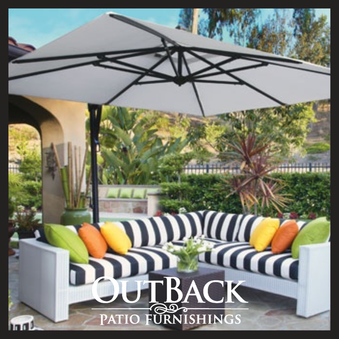 Patio Umbrellas Offer Much More Than Just Shade They Re A Clever Way To Frame Your Outdoor Space And Add Unexpected Fl With Images Patio Patio Furnishings Patio Umbrellas