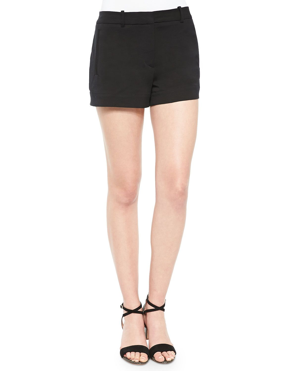 Tech-Cotton Welt-Pocket Shorts, Black