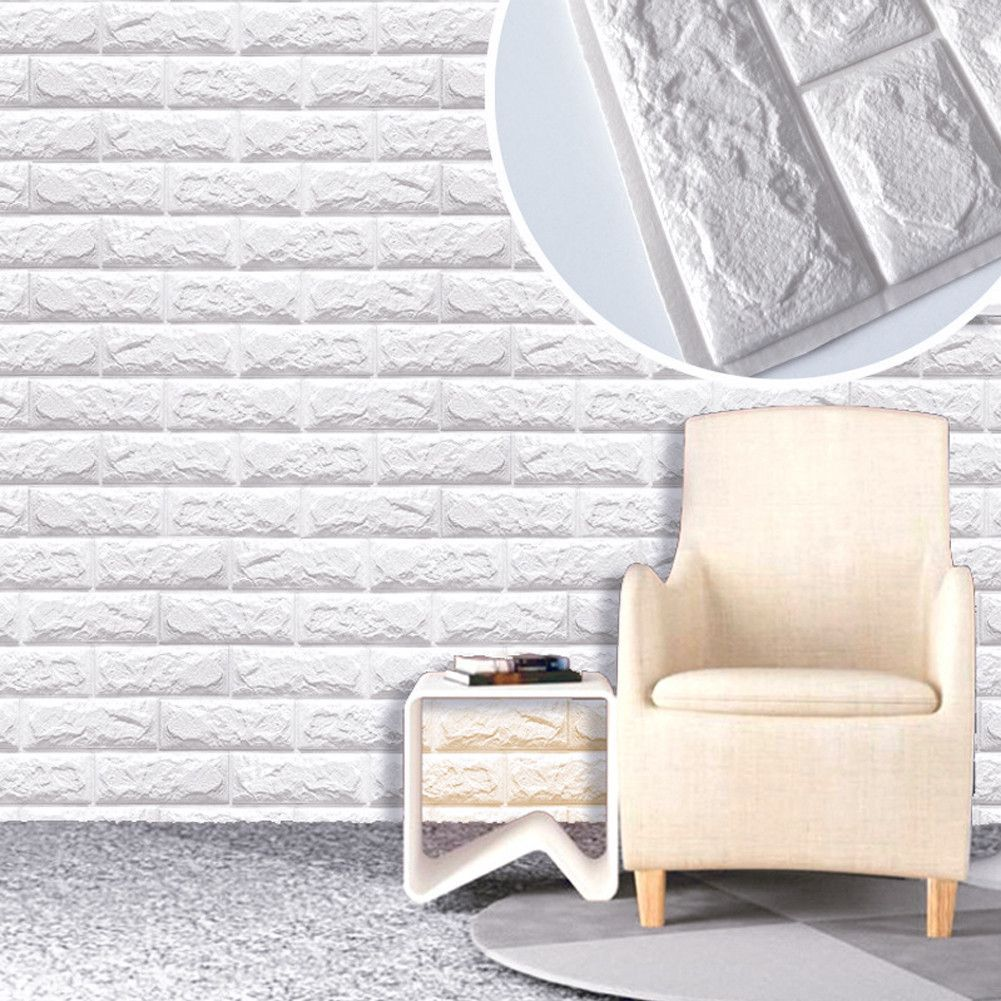 Buy PE Foam Natural Wall Stickers Patterns 3D Wallpaper DIY Wall ...