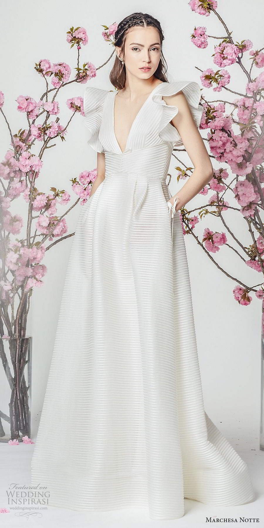 Marchesa notte spring wedding dresses in gowns with