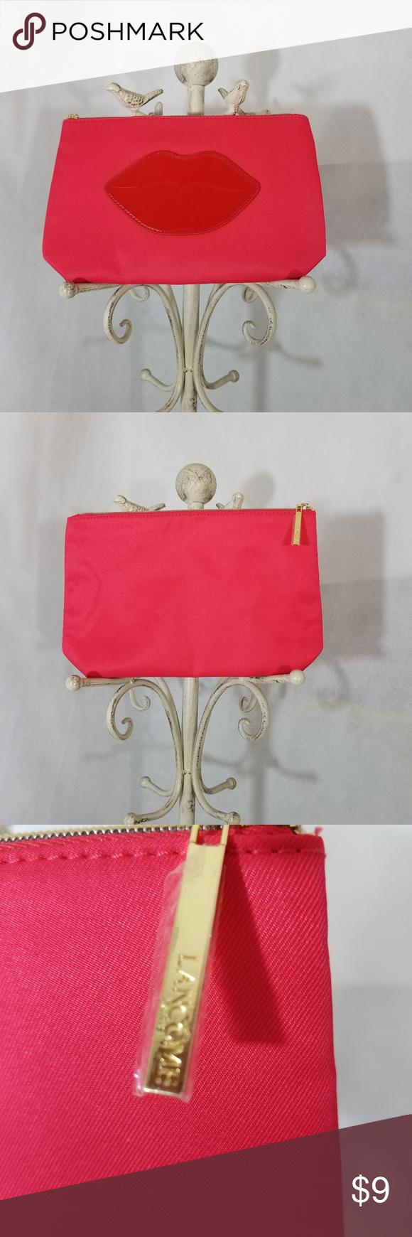 Makeup Bag Lips Cute cosmetic bag, hot pink with