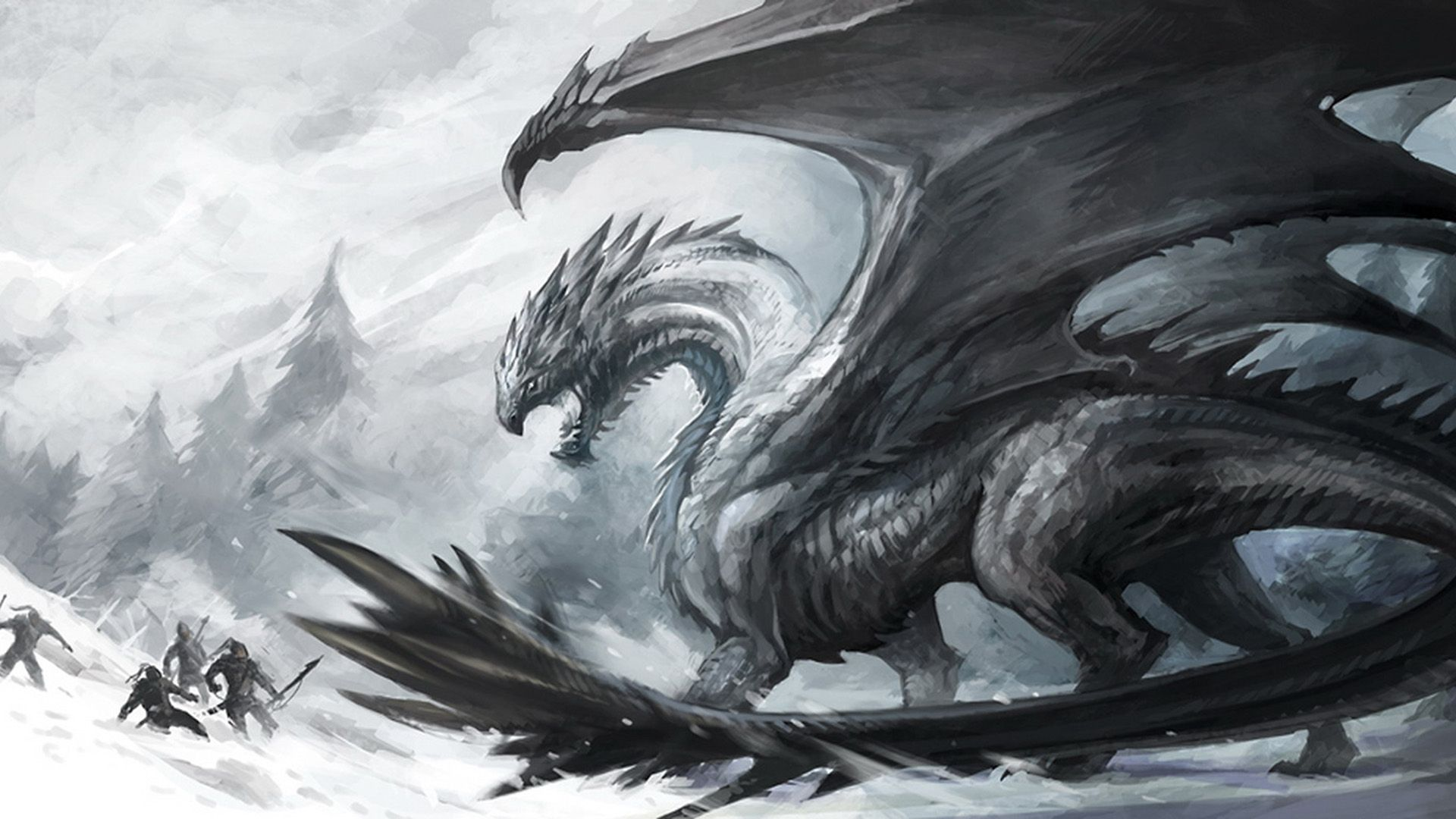 Fantasy Dragon Dark Creature Wallpaper Dragon art