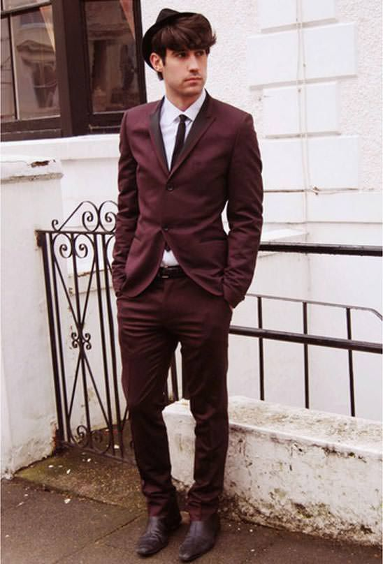 TOPMAN burgandy suit 2013 - Men Style Fashion | Tips for Yoga ...