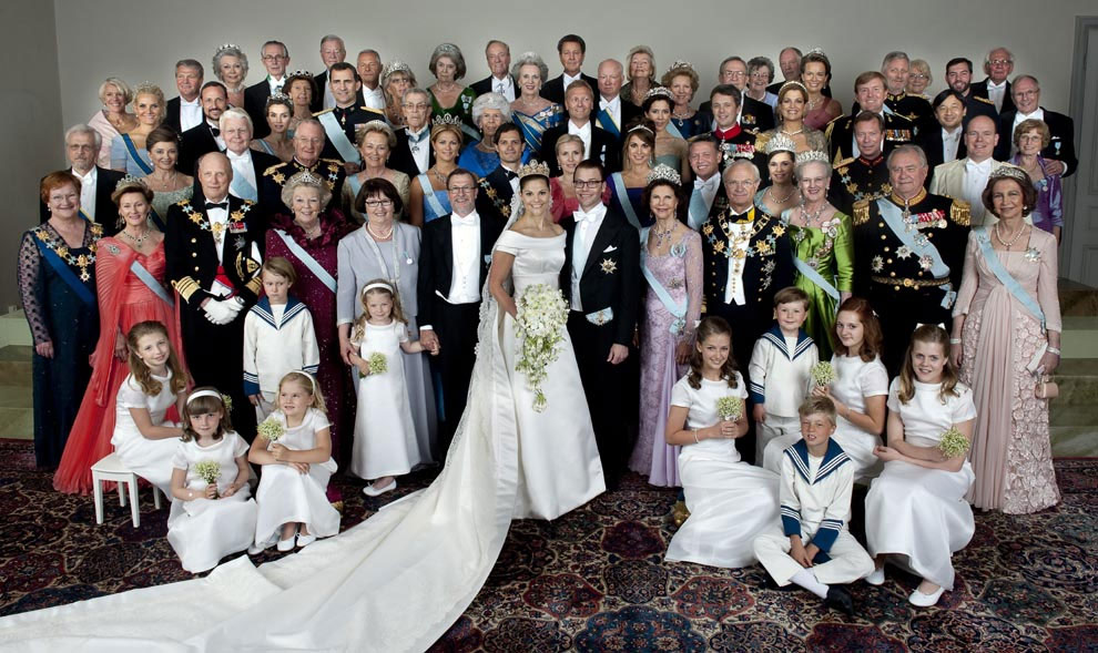 The bride and groom were in good company on their special day. Among their 1,200 guests were royals from all over the world, including six kings and nine queens