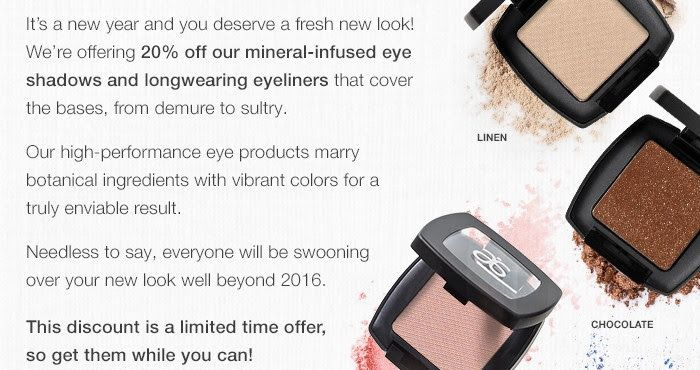 20% off eye shadows and liners!!! What an amazing deal!!! Extra discounts for Preferred Clients and Independent Consultants too!! http://karihamilton.arbonne.com