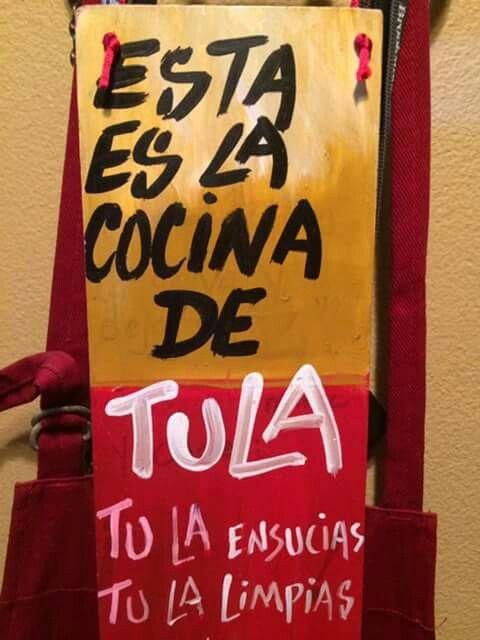 Esta Es La Cosina De Tula Tu La Ensucias Tu La Limpias Novelty Sign Home Diy Tile Work