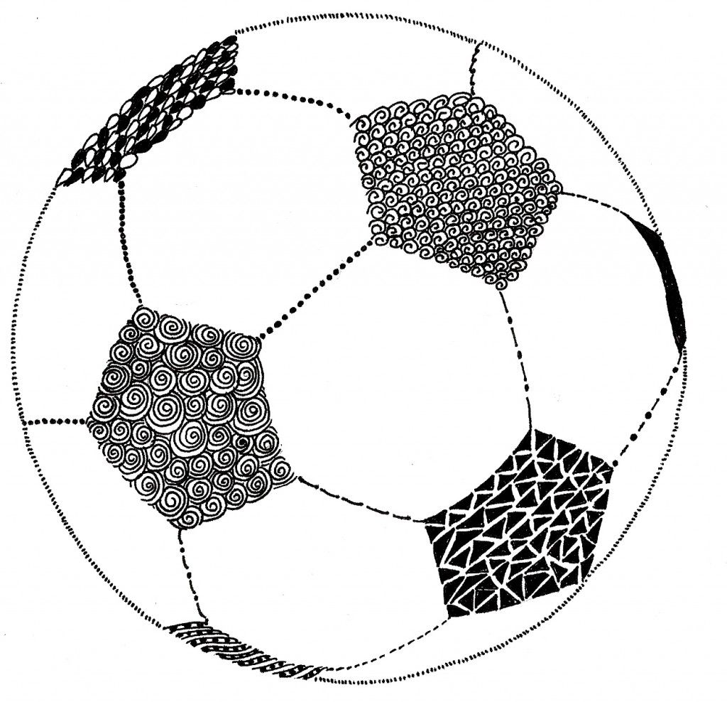 Fill The Net With Doodles And Marks Soccer Art Football Art Soccer