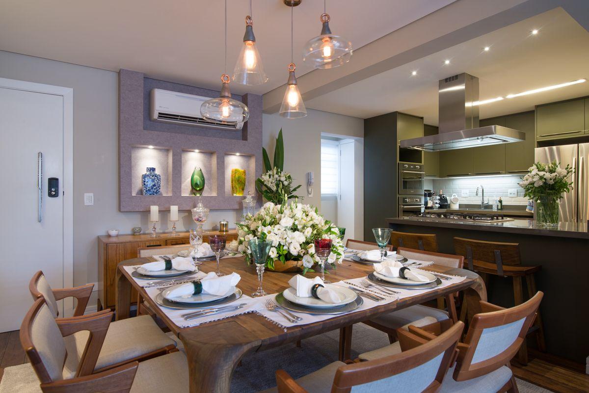 Sala De Jantar Integrada Com Cozinha Gourmet Saladejantar