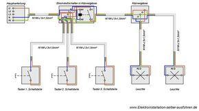 Schaltplan Einer Stromstossschaltung Mit Zwei Lampen Elektroinstallation Schaltplan Elektro