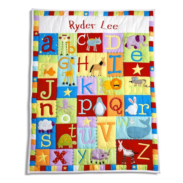 Personalized baby alphabet quilt gift cute kid creations baby personalized baby alphabet quilt gift cute kid creations negle Image collections