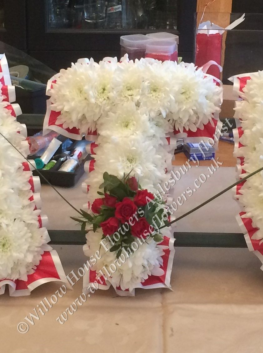 Tribute letters funeral flowers created by willow house flowers flower izmirmasajfo