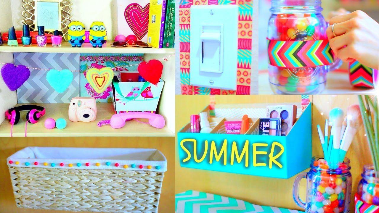 Diy Room Decor Summer Room Makeover Go Watch It On Youtube Diy Room Decor Tumblr Diy Summer Decor Summer Room Decor