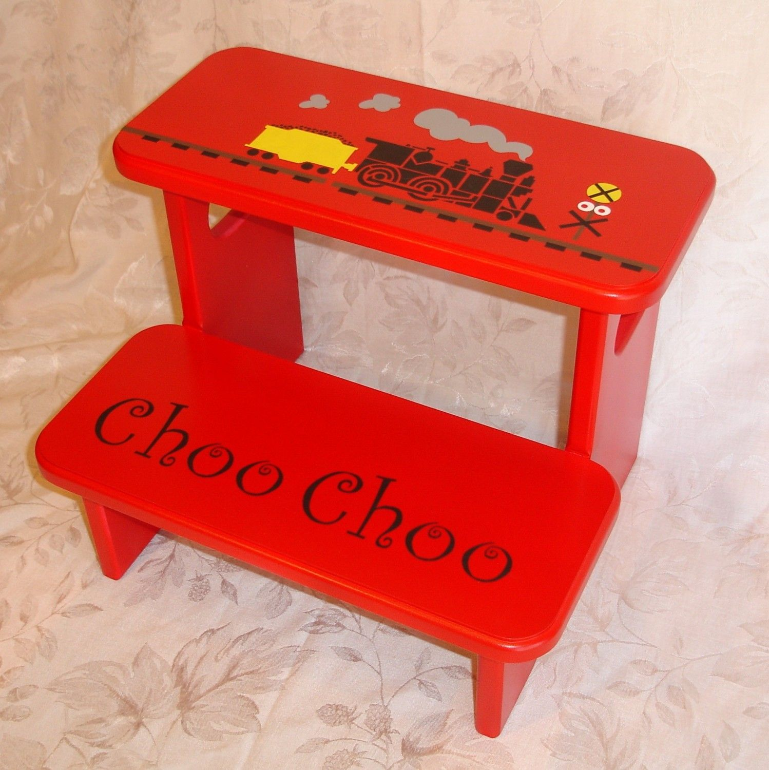 Choo Choo Train Step Stool In Red Step Stool Diy Projects Stool