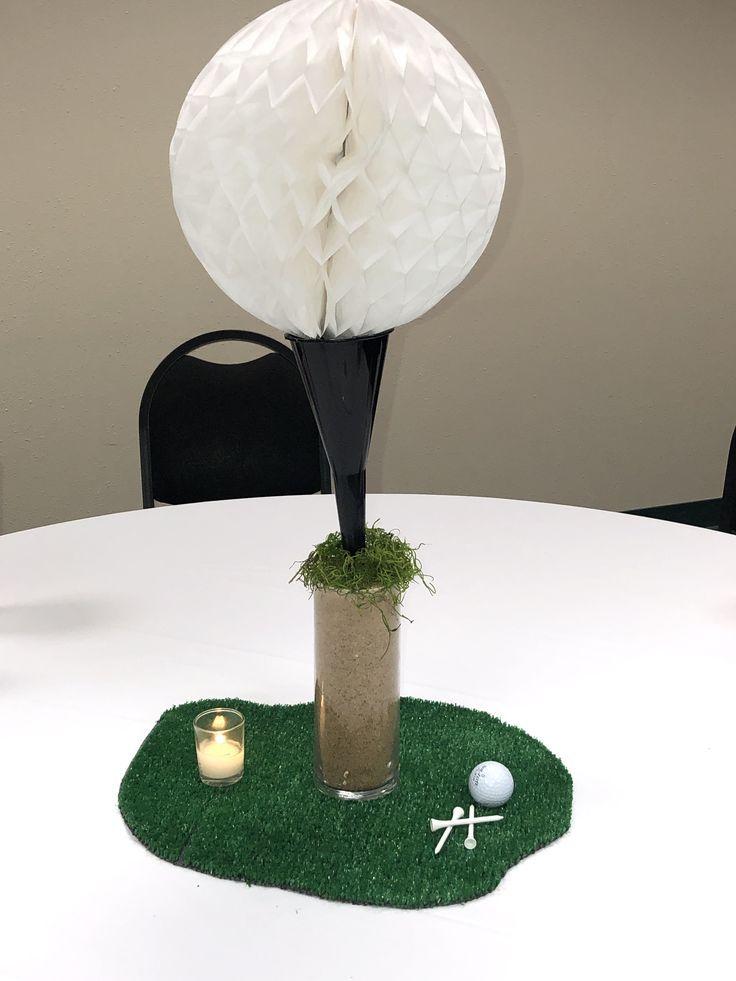 Golf banquet table centerpieces cheap putting green turf