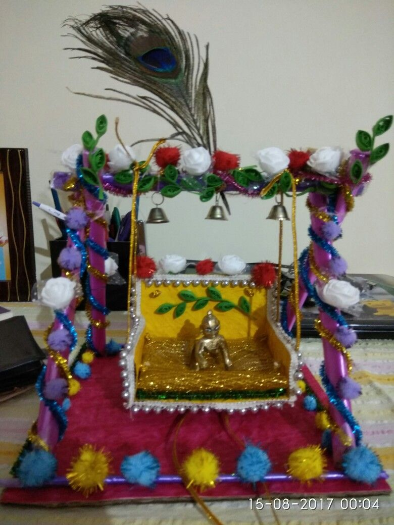 Hindu wedding decoration ideas  Pin by Raina bhowal on janamastami jhula  Pinterest