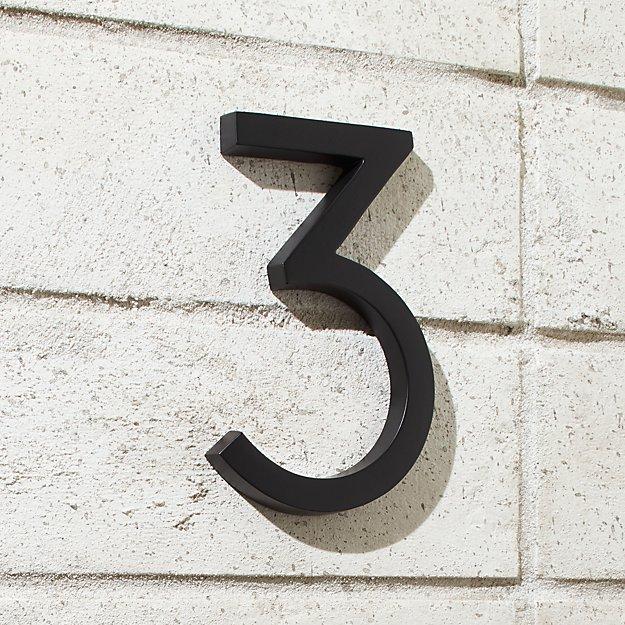 Aurele 6 Matte Black House Number 3 Reviews House Numbers