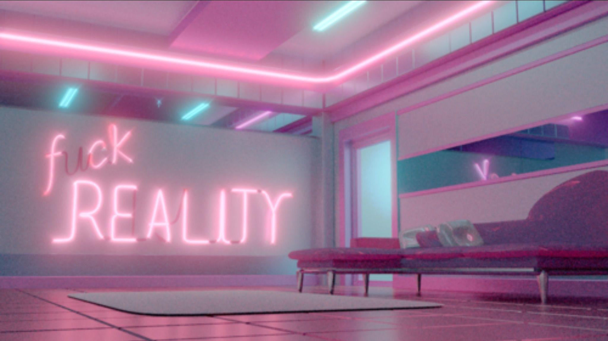 Fuck reality Pink aesthetic