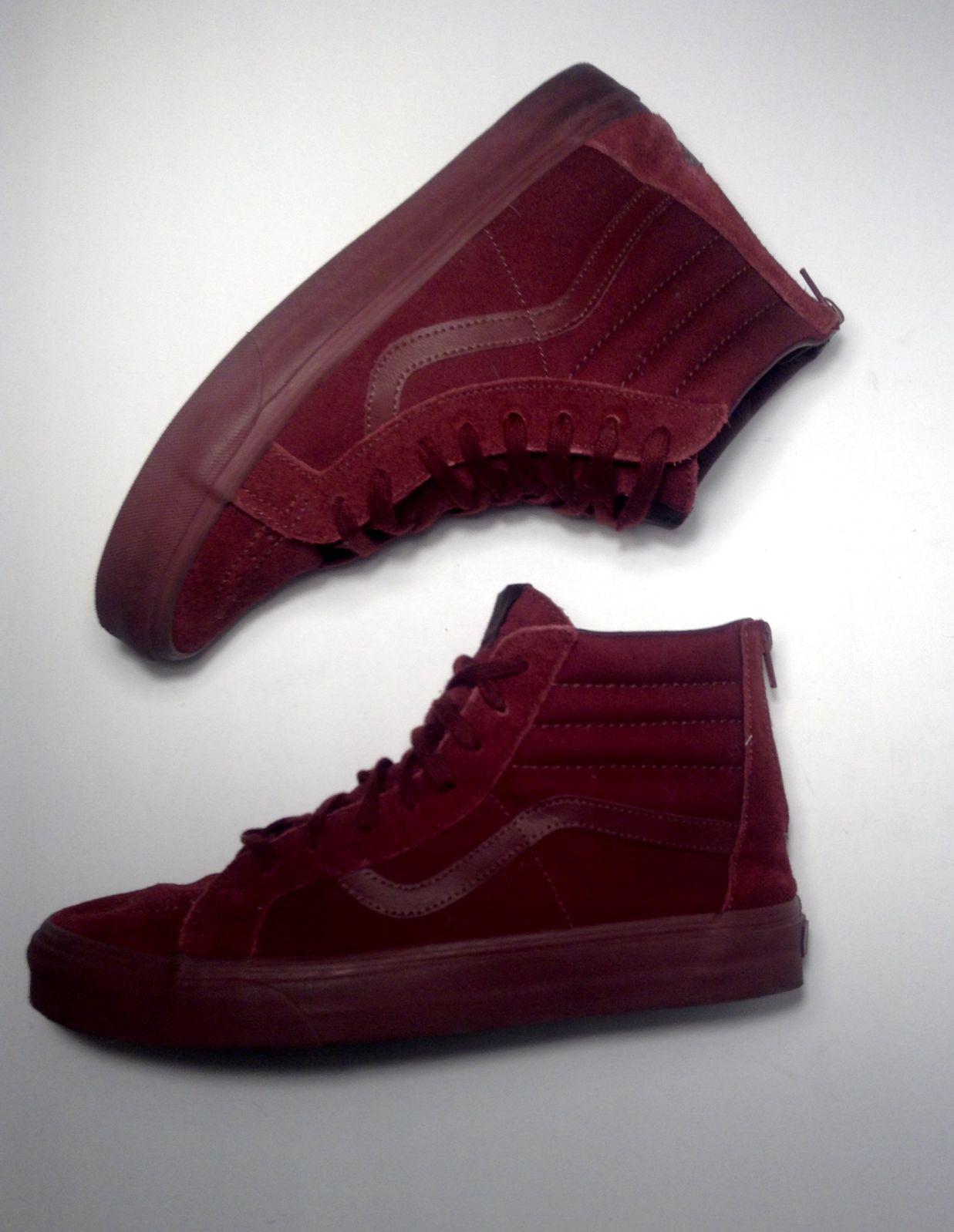 Vans Dark Red High Top Sneakers with