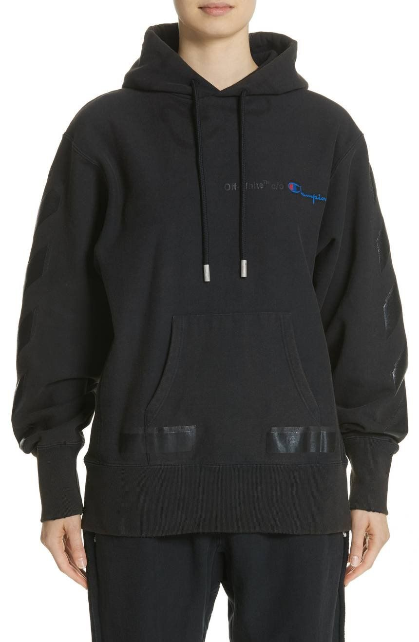 Off White X Champion Pullover Hoodie Champion Pullover Hoodie Hoodies Off White