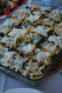 Kremalı Ispanaklı Makarna   Yemek Zevki