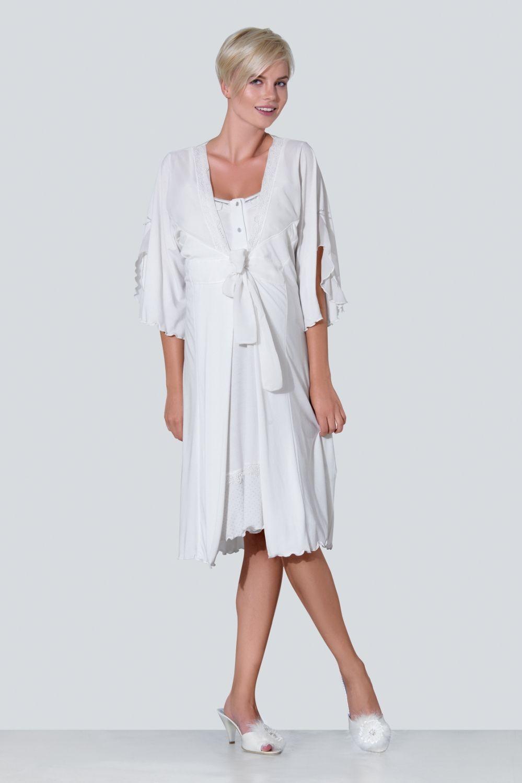 Nursing / Maternity Nightgown Set - Hamile / Emzirme Gecelik ...