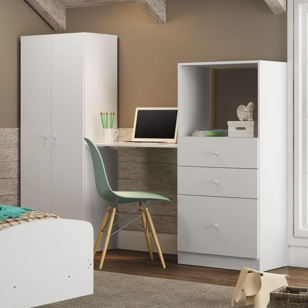 Roupeiro E C Moda Transforma Se Em Escrivaninha 100 Mdp Quartos ~ Escrivaninhas Para Quarto Feminino