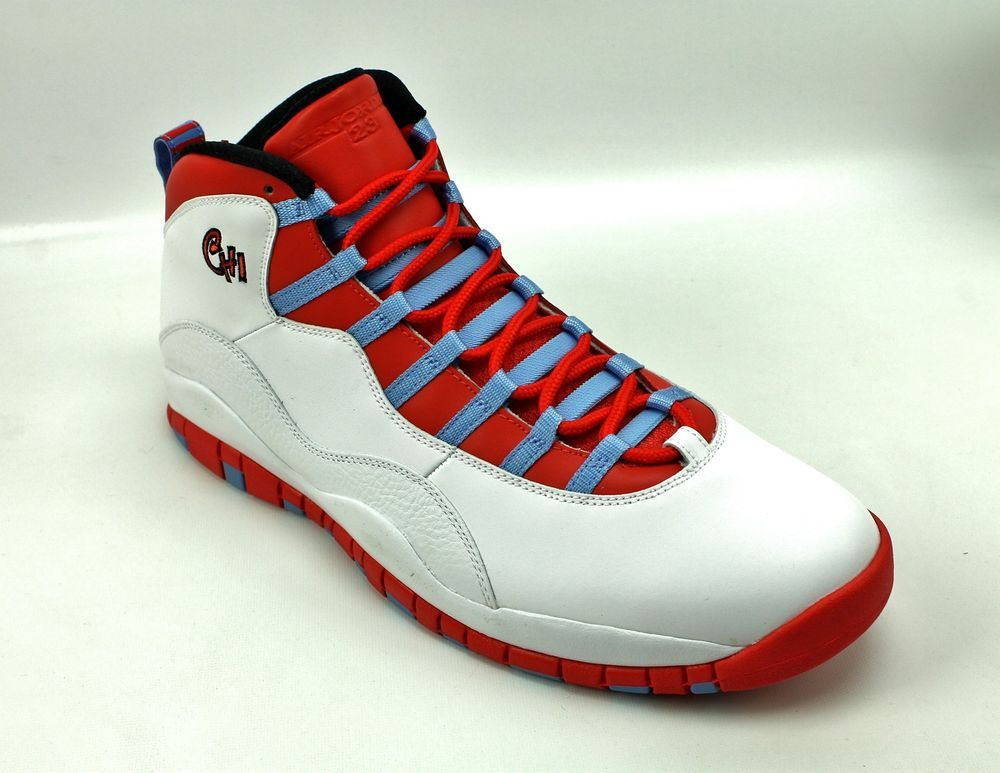nike air jordan retro 10 chicago white crimson blue 310805 114 shoes mens 15