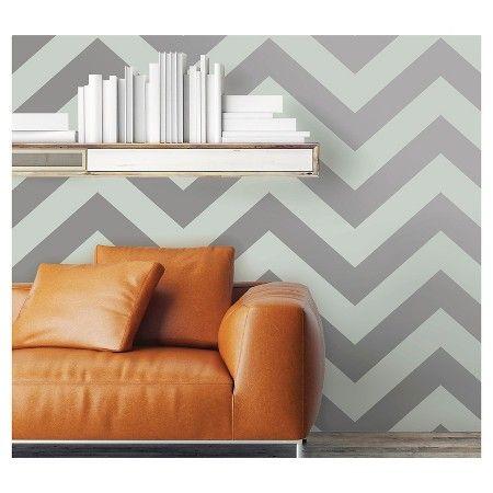 Devine Color Zig Zag Peel & Stick Wallpaper Sterling and