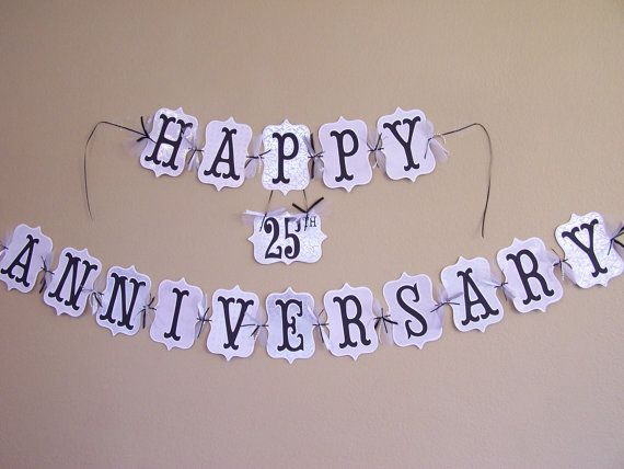 Custom happy anniversary banner 50th 40th by custompapermemories