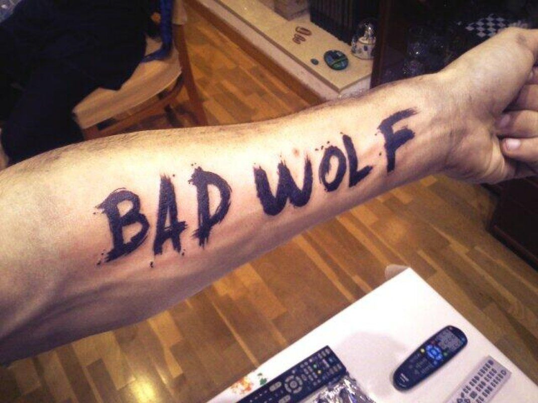 Bad Wolf Doctor Who Tattoos Bad Wolf Tattoo Trendy Tattoos