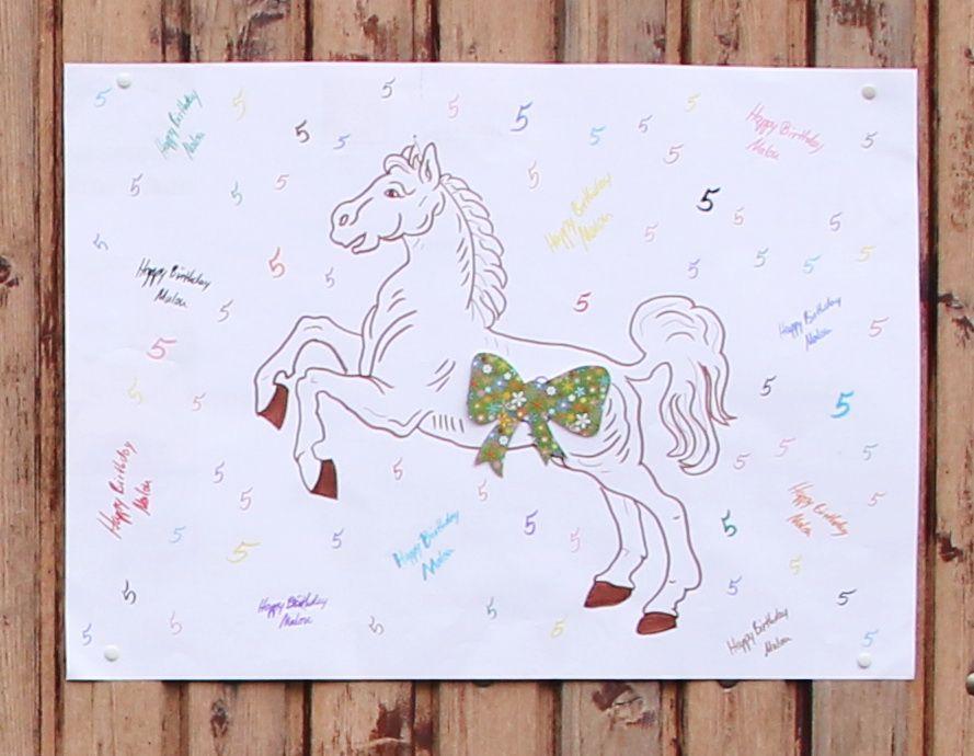 Plakat Zur Begrussung Der Gaste Fur Die Pferdeparty Zum 5