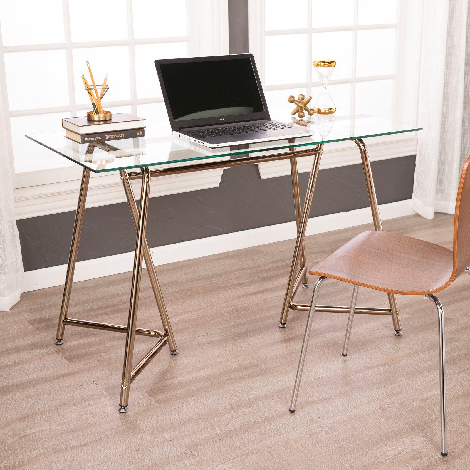 Holly Martin Holme Writing Desk Glass Desk Office Glass Office Desk Modern Office Desk Decor