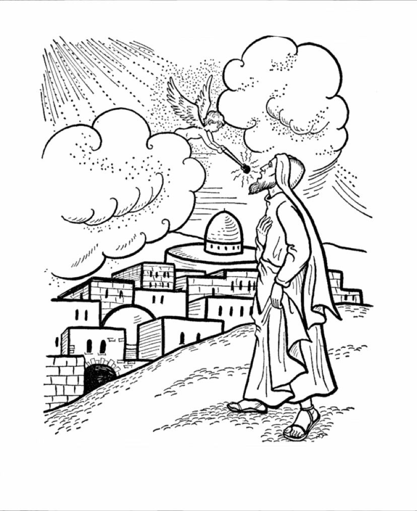Isaiah coloring page | Sunday school | Pinterest