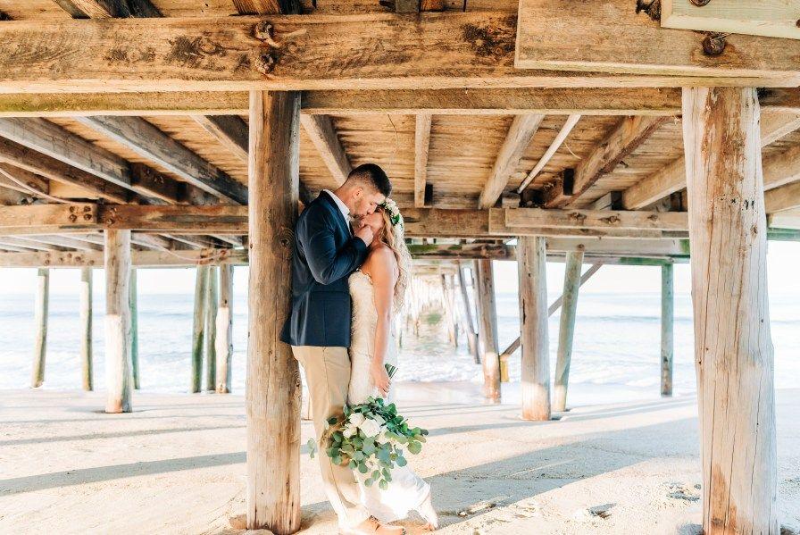 Outer Banks Sunset Wedding Jeff Amanda Sunset Beach Weddings Sunset Wedding Outer Banks Beach Wedding