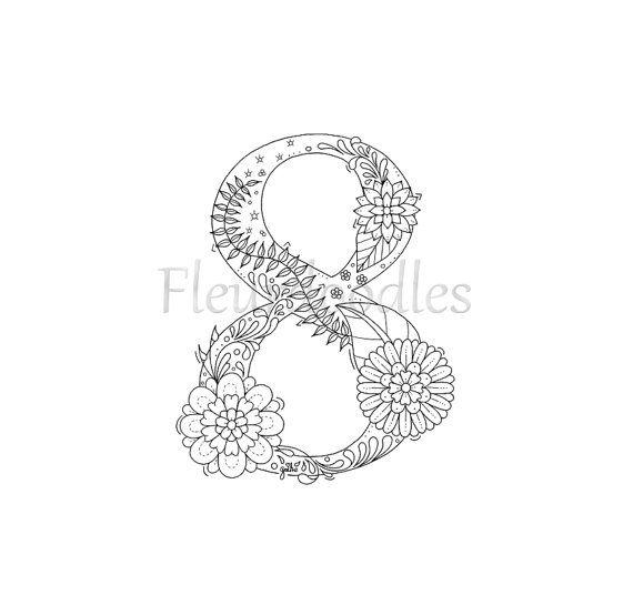 Malseite Ausdrucken 8 Acht Nummern Zahlen von Fleurdoodles   doodles ...