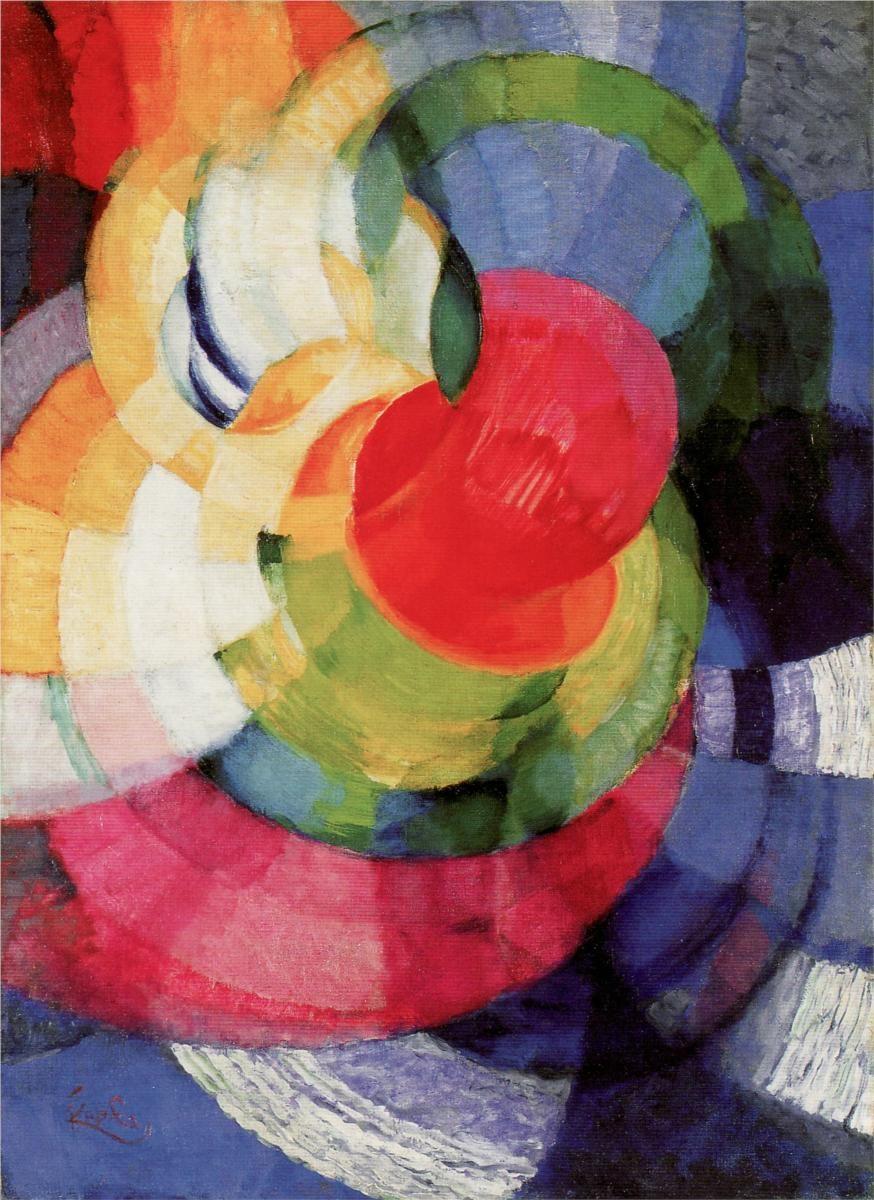 František Kupka ~ Disks of Newton, (Study for 'Fugue in Two Colors'), c.1911
