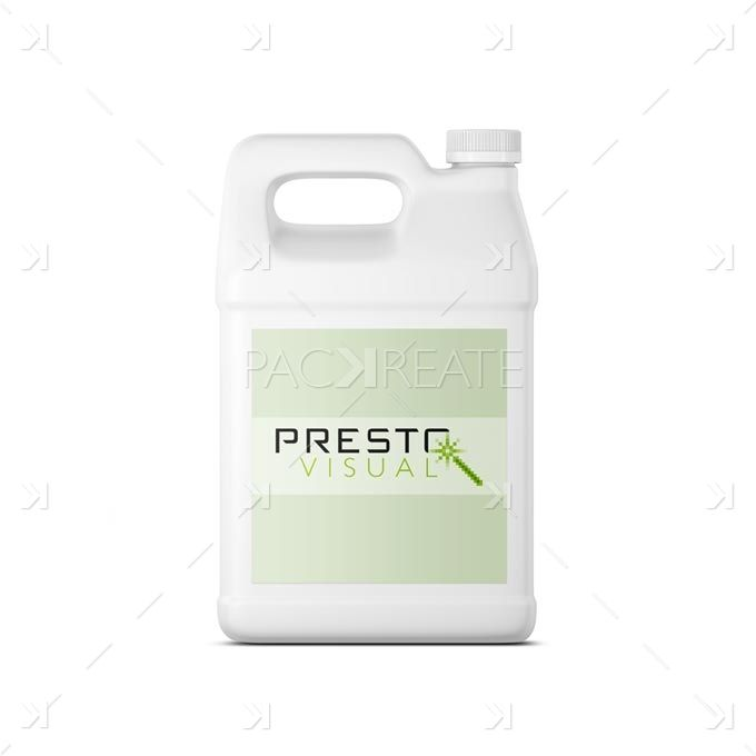 Gallon Container Smart Object Label Packreate Packaging Labels Labels Packaging Mockup