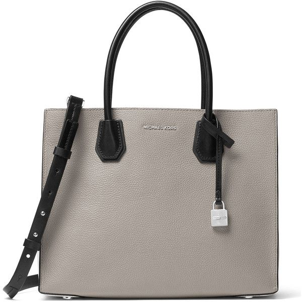 Michael Michael Kors Mercer Large Convertible Tote Bag ($298) ❤ liked on Polyvore featuring bags, handbags, tote bags, multi, convertible tote, zipper purse, zipper tote, zip purse and zip tote bag