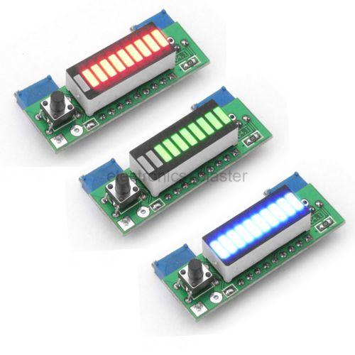 Battery Capacity Power Level Led Indicator Diy Lm3914 For 3 7v Li Ion Battery Led Indicator Electronic Circuit Projects Led